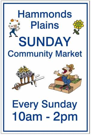 Community Market Sign