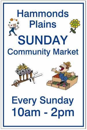 Community Market Sign