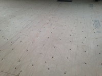 Subfloor - 4608 screws!