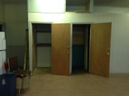 View of empty closets